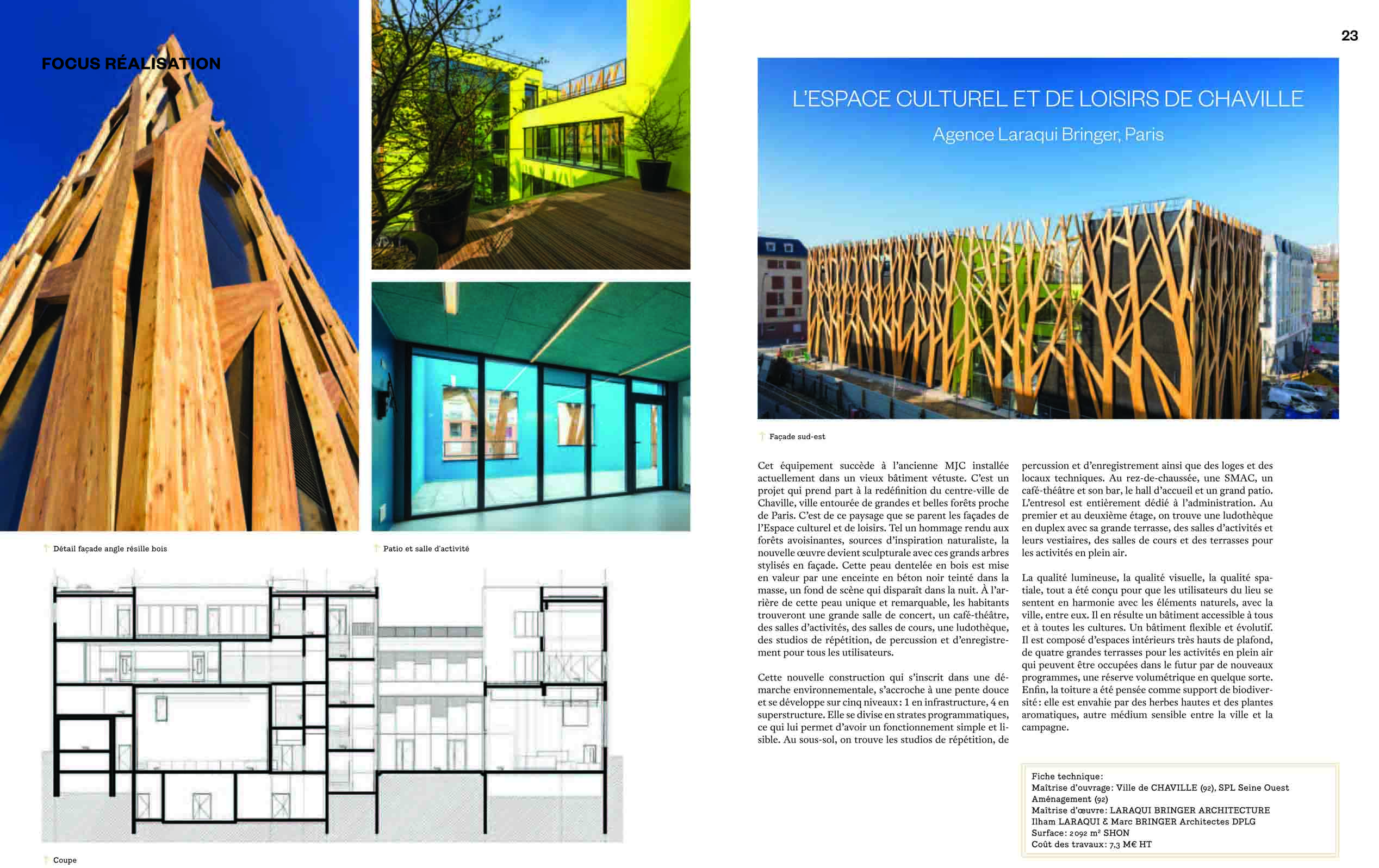 archistorm 74 sept oct 2015 focus r alisation ecl chaville laraqui bringer architecture. Black Bedroom Furniture Sets. Home Design Ideas